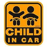 ナポレックス 傷害保険付き CHILD IN CAR セーフティーサイン 【特殊吸盤タイプ(内貼り)】 SF-20