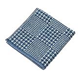 楠橋紋織 ハンカチタオル ネイビー 約25cm×25cm わた音 ブロックワッフル 1-65612-86-KON