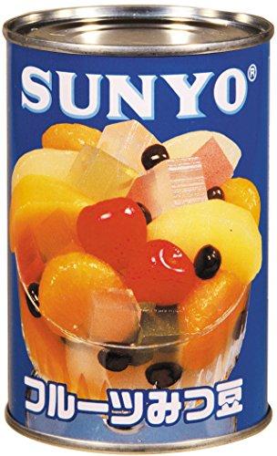 あいサンヨー フルーツみつ豆 4号缶(内容総量425g)