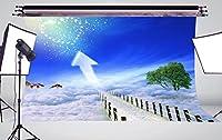 7X 5ft美しいsceney on the clouds写真背景写真バックドロップスタジオ小道具n758