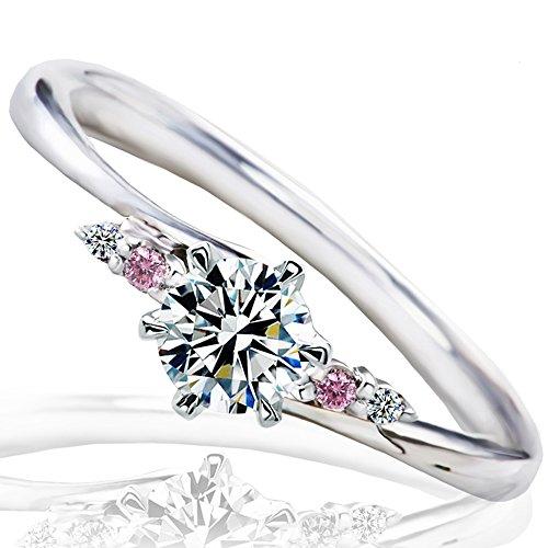 [ミワホウセキ] miwahouseki プロポーズ 婚約指輪 プラチナ 最高の輝きを放つ ダイヤモンド 0.2ct 鑑定書付 9号 [M297PS]