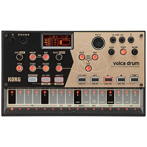 KORG デジタル パーカッション シンセサイザー volca drum リズムマシン スピーカー内蔵 ヘッドフォン使用可 どこでも使えるコンパクトサイズ