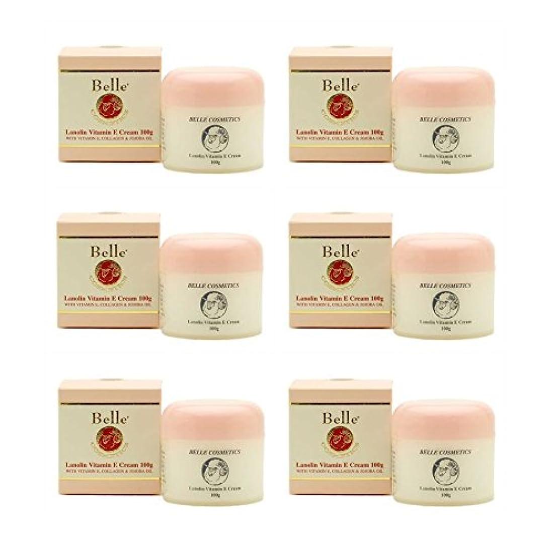 検索ブリークプール[Belle Cosmetics]ベルコスメティック ラノリンビタミンEクリーム100gx6個【海外直送】