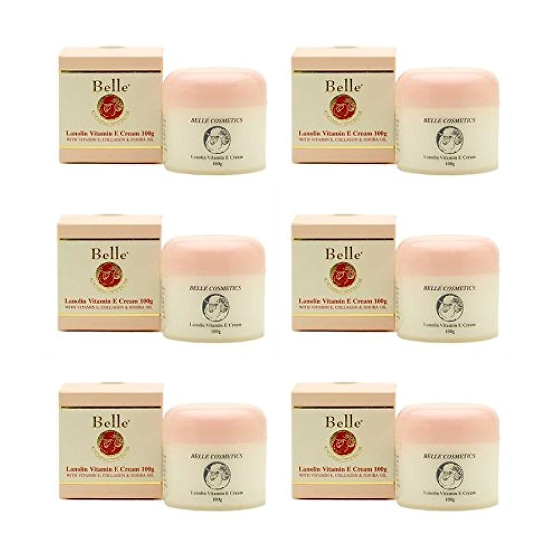 蒸留する四示す[Belle Cosmetics]ベルコスメティック ラノリンビタミンEクリーム100gx6個【海外直送】