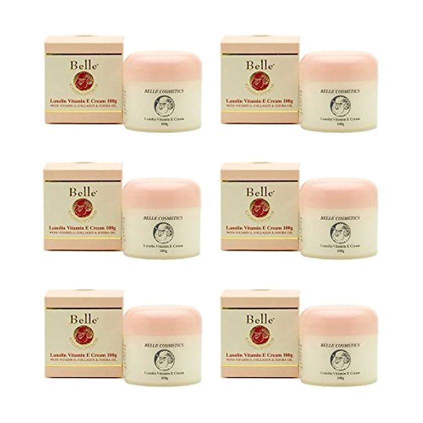 弾性国籍グループ[Belle Cosmetics]ベルコスメティック ラノリンビタミンEクリーム100gx6個【海外直送】