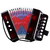 CAHAYA ミニ アコーディオン 7鍵 2ベース 子供用 楽器 音楽 玩...