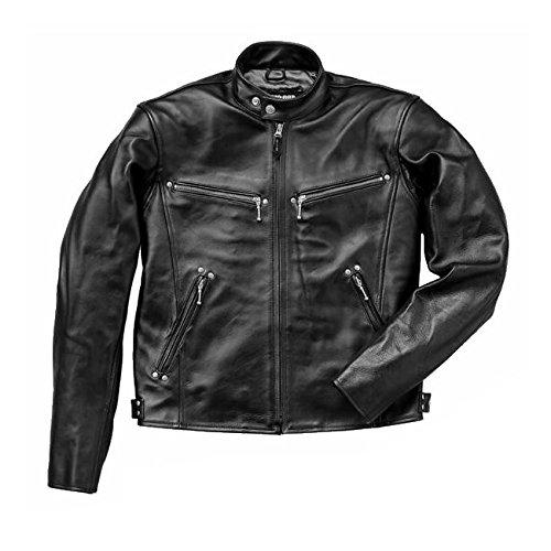 ■ シングルレザージャケット Lサイズ ブラック 本革ジャケット シングルライダース ST-LJ001-L