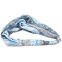 Large Capacity Outdoor Equipment Elastic Printed Hair Accessories (Color : Slight Blue)