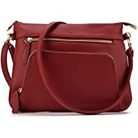 JIARUO Slim Women Small PU Pebble leather crossbody bag Purses Shoulder bag handbag With Front Pocket