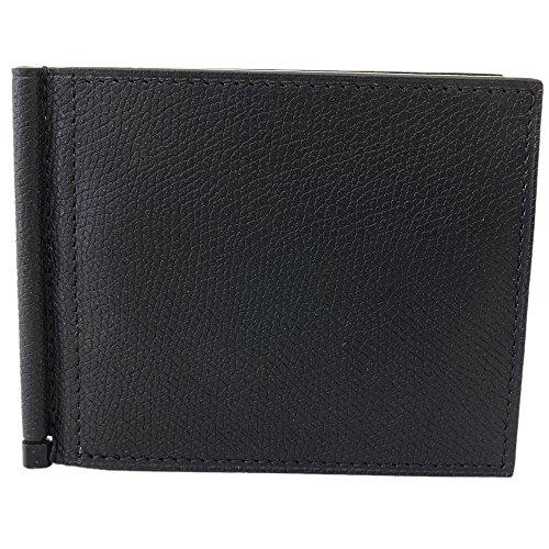 (ヴァレクストラ)VALEXTRA Valextra ヴァレクストラ 財布 二つ折り財布 折りたたみ財布 札ばさみ財布 マネークリップ V0L80 28 N NERO OPACO BLACK グレインレザー [並行輸入品]