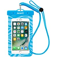 防水ケース Auwet 【ネックストラップ付属】潜水 お風呂 水泳 砂浜 水遊びなど用防水携帯ケースフォンケース・カバー 水中撮影 IPX8認定獲得 iPhone X/6s/6/Plus/SE とAndroid SAMSUNG Galaxy S8/S7 edge/SONY Xperia/HUAWEI スマホ防水ケースなど6インチ以下のスマホに対応