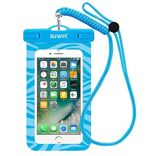 防水ケース Auwet ネックストラップ付属潜水 お風呂 水泳 砂浜 水遊びなど用防水携帯ケースフォンケース・カバー IPX8認定獲得 iPhone X/6s/6/Plus/SE とAndroid SAMSUNG Galaxy S8/S7 edge/SONY Xperia/HUAWEI スマホ防水ケースなど6インチ以下のスマホに対応