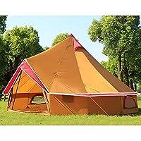 Sports life 大型の屋外2-10人を収容することができテントキャンプテント、厚い防水レジャー旅行のテント、家族やグループに最適 (Color : Yellow)