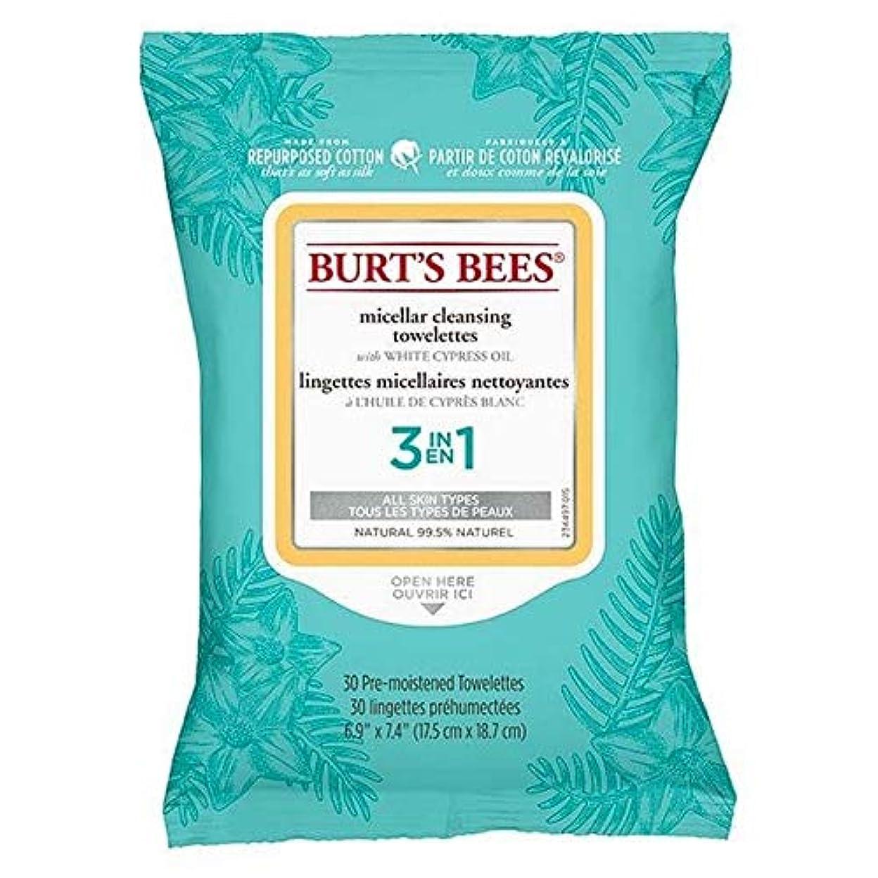 請求可能救援シュリンク[Burt's Bees ] バーツビーミセル顔はX30をワイプ - Burt's Bees Micellar Face Wipes x30 [並行輸入品]