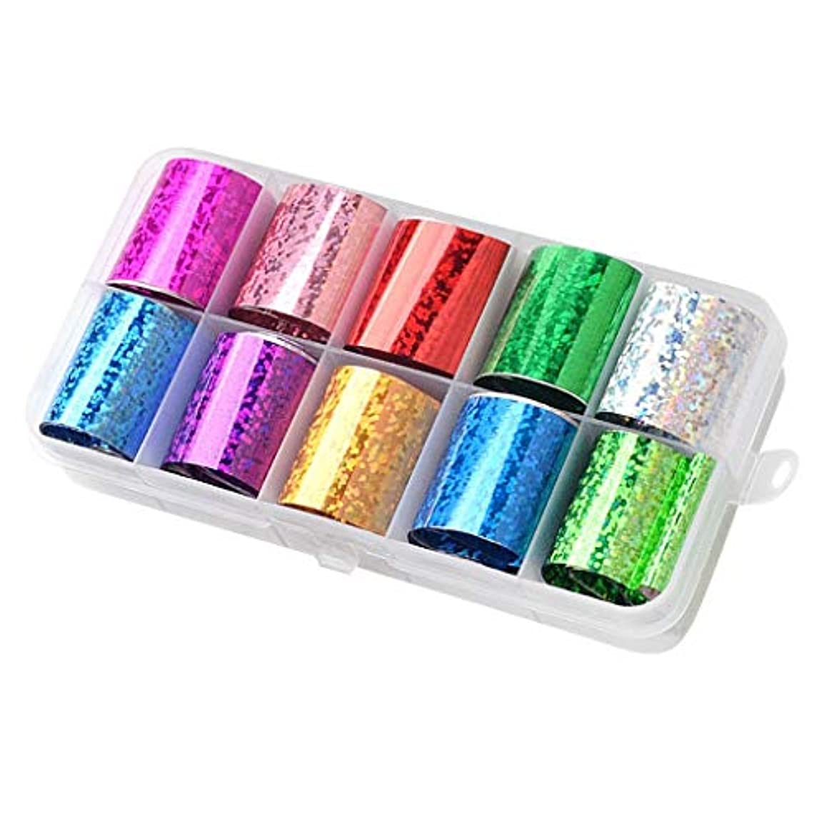Sharplace ネイルフォイル ネイルシール ネイルステッカー ネイルデザインパーツ 全15カラー - ミックススタイル09
