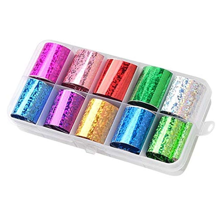 薬を飲む永遠に暴力Sharplace ネイルフォイル ネイルシール ネイルステッカー ネイルデザインパーツ 全15カラー - ミックススタイル09