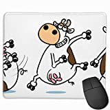 TOTOPM マウスパッド 滑り良い 滑り止め 耐摩耗性 おしゃれ ブレイクダンス牛 水洗い PC ラップトップ オフィス用 ゲーム向け レーザー&光学式マウス対応 250*300 *3mm (抗菌性・静電特性に優れています)