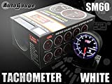 オートゲージ(AUTOGAUGE) タコメーター (SM 60, ホワイト)