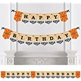 Nothin' But Net - Basketball - Birthday Party Bunting Banner - Sports Party Decorations - Happy Birthday [並行輸入品]