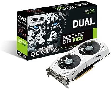 ASUSTek NVIDIA GeForce GTX1060搭載ビデオカード オーバークロック メモリ6GB DUAL-GTX1060-O6G