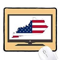 米国のマップケンタッキー星とストライプの旗の形 マウスパッド・ノンスリップゴムパッドのゲーム事務所