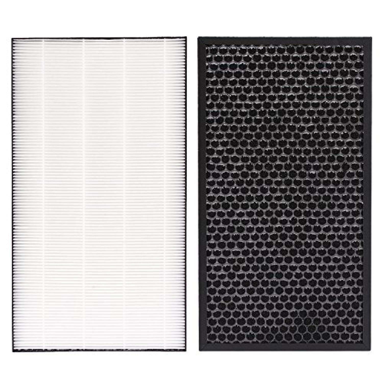 J&H 空気清浄機交換用 脱臭フィルター FZ-D50DF(1枚) と 集じんフィルター HEPAフィルター FZ-D50HF(1枚) 互換品 (合計2枚入り)