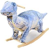 恐竜 乗れるぬいぐるみ おもちゃ 座れる 乗り物 キッズチェア ロッキング (ティラノサウルス/ブルー)