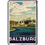 b477ザルツブルクオーストリア冷蔵庫マグネットビンテージ旅行フォト冷蔵庫マグネット