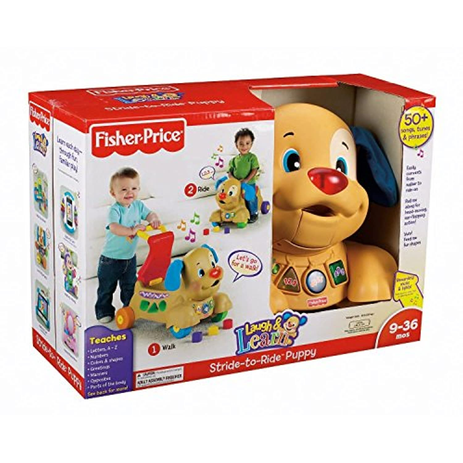 Fisher Price Laugh and N Learn Musical Stride to Ride Puppy Shape Sorterウォーカー