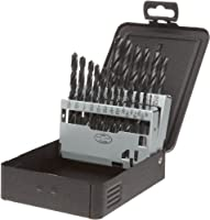 Precision Twist C21R10 High Speed Steel Jobber Length Drill Bit Set with Metal Case, Black Oxide Finish, 118 Degree Conventional Point, Inch, 21 piece, 1/16 to 3/8 x 64ths by Precision Twist