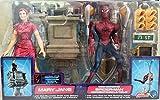SpiderMan Movie ToyBiz Action Figure Web Swinging SpiderMan & Mary Jane Break Away Balcony