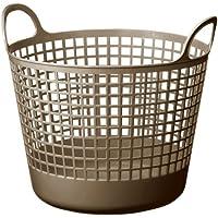 like-it 脱衣かご ラウンドバスケット 丸型 ブラウン 幅41x奥37x高37.5cm LB-01-A