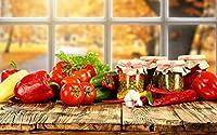 絵画風 壁紙ポスター (はがせるシール式) 色鮮やかな野菜 トマト ピーマン パプリカ キュウリ キッチン キャラクロ FVEG-003W2 (ワイド版 603mm×376mm) 建築用壁紙+耐候性塗料