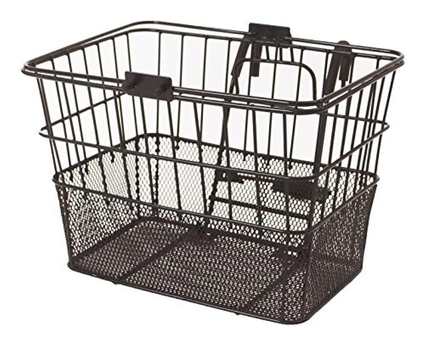 ミトン町追い付くRetrospec Bicycles Detachable Steel Half-Mesh Apollo Bike Basket with Handles Black [並行輸入品]
