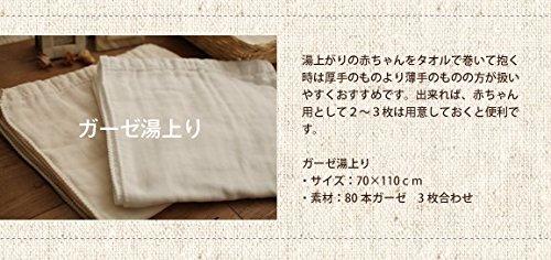 Fabric + コットンガーゼ(80本ガーゼ3枚合わせ) 湯上りタオル 《日本製 エコテックス認証》《出産準備 ガーゼ》【 メール便でお届けです。 】 (生成)