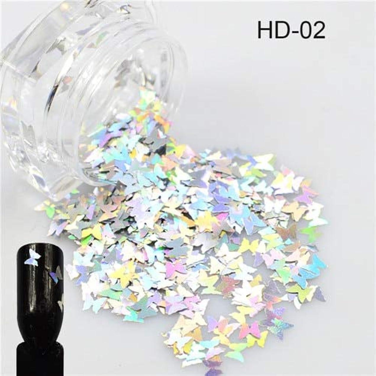リズミカルな学部整然とした1ピース新しい爪輝く蝶の形ミックス色美容ジェルネイルアートチャームミニpailletteの小型スパンコールの装飾SAHD01-05 HD02