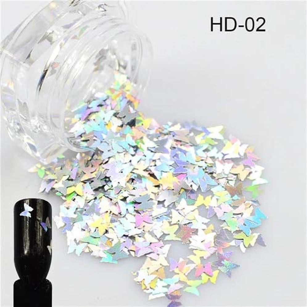 クレア着る取り囲む1ピース新しい爪輝く蝶の形ミックス色美容ジェルネイルアートチャームミニpailletteの小型スパンコールの装飾SAHD01-05 HD02