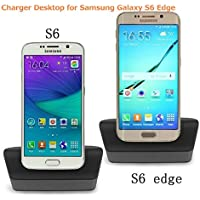 JEBSENS - CCS6E Charger Desktop Charging Cradle for Samsung Galaxy S6E Detachable Case Plate ith a Slim-Fit Case [並行輸入品]