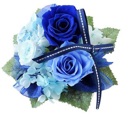 花由 プリザーブドフラワー パレット grandbleu 青