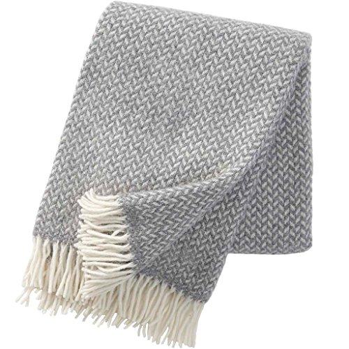RoomClip商品情報 - KLIPPAN クリッパン ウール スローケット ポルカ(130×200cm/ライトグレー)北欧雑貨