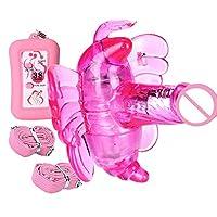 ストラップレス セックス 玩具 バイブレーター見えないパンティーストラップバイブレーターワイヤレスリモートコントロールバタフライバイブレーター女性オナホール大人のおもちゃ 、ピンク