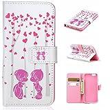 iPhone 6 / iPhone 6s ケース Zeebox 手帳型ケース カード収納 横開き Apple iPhone6 / iPhone6s 用 高品質 液晶保護 カバー 生涯補償付き (ピンク #2)