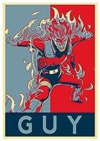 """ポスターナルト"""" Propaganda """" Guy (バリアント)–formato a3( 42x 30cm )"""