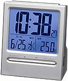 GENTOS (ジェントス) 目覚し時計 大画面 デジタル シルバー SA-911SV