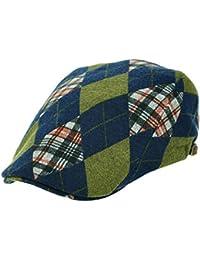 [PLIC N PLOC]EMH11.アーガイルチェックメンズベレー帽 ハンチング フラットキャップ帽子 鳥打ち帽 春 秋