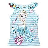 アナと雪の女王 Frozen 子供 半袖 Tシャツ 女の子 アナ雪 女の子 (100, ボーダー(ブルー)) [並行輸入品]