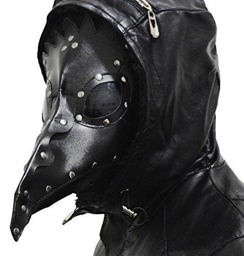 【HIRO】ペスト マスク コスチューム用小物 ブラック +オリジナルクロスセット