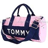 トミーヒルフィガー TommyHilfiger 刺繍ロゴ ミニ ボストン バッグ(ピンク)tomw-039