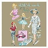 レブロドゥーズパリジェンヌ クロスステッチ 図案 ファッションショーNo.2 ツイード ※刺繍糸は付属されておりません