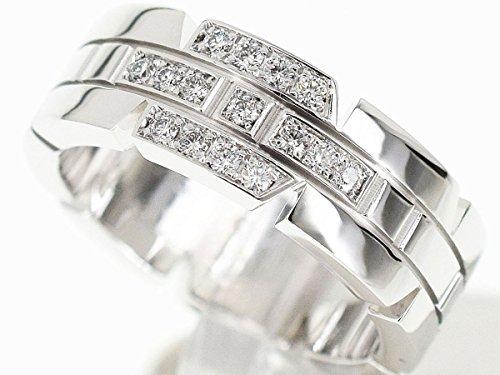 (カルティエ) Cartier タンクフランセーズ ダイヤ リング 750 K18 WG ホワイトゴールド 日本サイズ約7号 ♯47 29410504